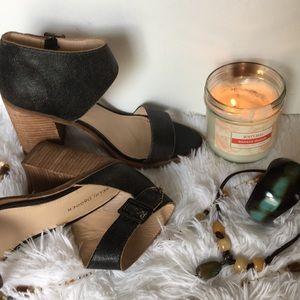 Kelsi Dagger black open toe heels